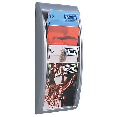 Wandprospekthalter A4 - 4 Fächer für Format DIN A4