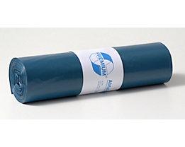 Sacs plastique - capacité 70 l, l x h 575 x 1000 mm, lot de 250 - épaisseur matériau 40 µm, bleu