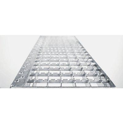 EUROKRAFT Montagetritt, mobil - mit Stahl-Gitterrost-Stufen