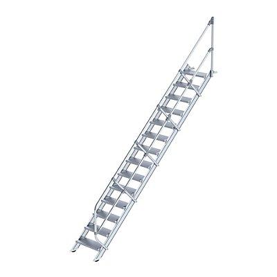 Günzburger Steigtechnik Industrie-Treppe - Alustufen, Stufenbreite 600 mm