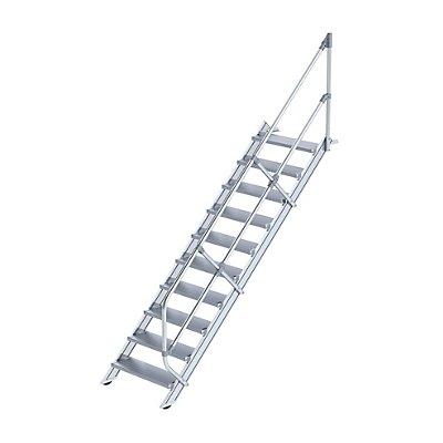 Günzburger Steigtechnik Industrie-Treppe - Alustufen, Stufenbreite 800 mm