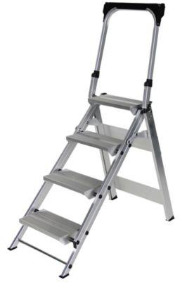 Alu-Klapptreppe - 4 Stufen - mit Sicherheitsbügel