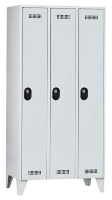 Wolf Garderobenschrank, Fachhöhe 1700 mm - HxBxT 1850 x 900 x 500 mm, Abteilbreite 300 mm
