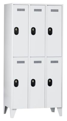 Wolf Garderobenschrank, Fachhöhe 820 mm - HxBxT 1850 x 900 x 500 mm, Abteilbreite 300 mm