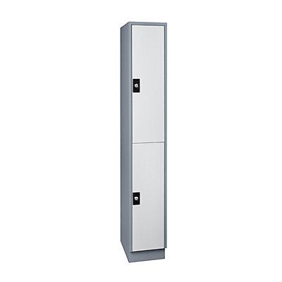 Wolf Schließfachschrank, Fachhöhe 820 mm - 2 Fächer, Breite 300 mm