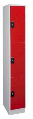 Wolf – Garderobenschrank, Fachhöhe 540 mm - 1 Abteil à 300 mm Breite