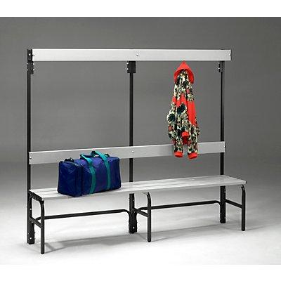 Sypro Umkleidebank aus Stahl für Feuchträume - HxT 1600 x 335 mm