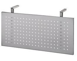 HAMMERBACHER Sichtblende - Lochblech weißaluminium - für 800 mm breite Tische | SI08/S
