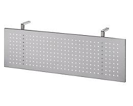 Hammerbacher Sichtblende - Lochblech weißaluminium - für 1200 mm breite Tische