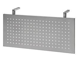HAMMERBACHER Sichtblende aus Lochblech - weißaluminium - für Eckwinkel 90°