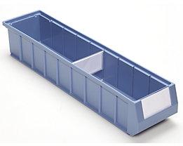 mauser Fachteiler - Querteiler mit großem Etikettfeld - für BxH 117 x 90 mm, VE 10 Stk