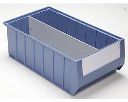 Séparateur - séparation longitudinale - pour L x h 400 x 140 mm, lot de 10