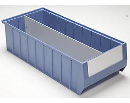 Séparateur - séparation longitudinale - pour L x h 500 x 140 mm, lot de 10