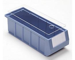 mauser Staubdeckel für Regalkästen - transparent - für LxB 300 x 117 mm, VE 10 Stk