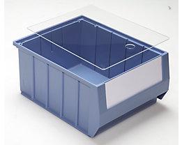 mauser Staubdeckel für Regalkästen - transparent - für LxB 300 x 234 mm, VE 10 Stk