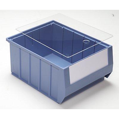 mauser Staubdeckel für Regalkästen - transparent