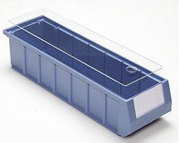 Staubdeckel für Regalkästen - transparent - für LxB 400 x 117 mm, VE 10 Stk
