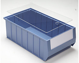 mauser Staubdeckel für Regalkästen - transparent - für LxB 400 x 234 mm, VE 10 Stk