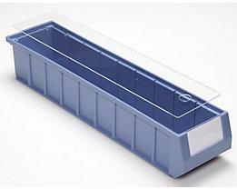 Couvercle pour bacs de stockage - transparent - pour L x l 500 x 117 mm, lot de 10