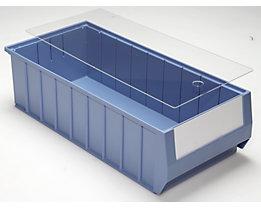 mauser Staubdeckel für Regalkästen - transparent - für LxB 500 x 234 mm, VE 10 Stk