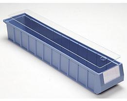 mauser Staubdeckel für Regalkästen - transparent - für LxB 600 x 117 mm, VE 10 Stk
