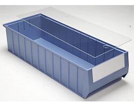 Staubdeckel für Regalkästen - transparent - für LxB 600 x 234 mm, VE 10 Stk