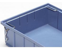 Sicherungsbügel - für Regalkasten - für Breite 234 mm, VE 10 Stk