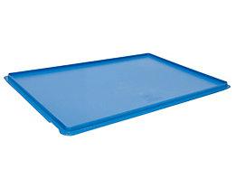 utz Deckel für Euronorm-Stapelbehälter, VE 2 Stk - LxB 600 x 400 mm - blau