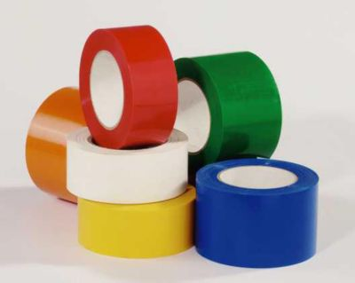 Bodenmarkierungsband aus Vinyl, einfarbig - Breite 75 mm