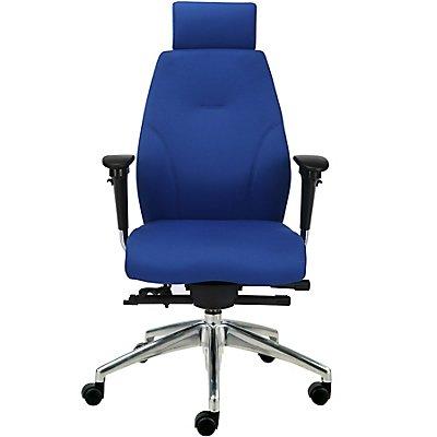 Chaise de bureau iTask avec dossier haut, bleu