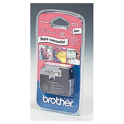P-touch Schriftbandkassette MK231BZ 12mmx8m unlaminiert sw auf ws