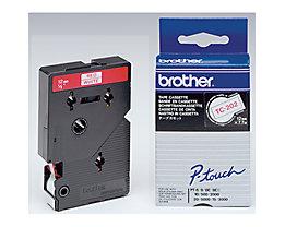 P-touch Schriftbandkassette TC202 12mmx7,7m laminiert rt auf ws