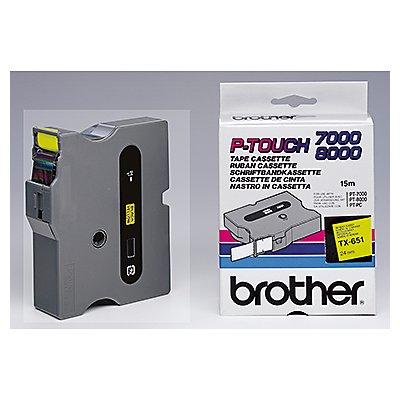 P-touch Schriftbandkassette TX651 24mmx15,4m laminiert sw auf ge