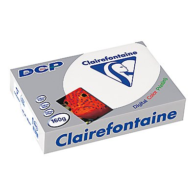 Clairefontaine Farblaserpapier DCP  DIN  160g ws 250 Bl./Pack.