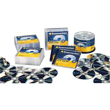 Soennecken CD/DVD Jewel Case 4712 Kunststoff tr...