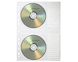 Soennecken CD/DVD Hülle 1612 für 2CDs transparent 5 St./Pack.