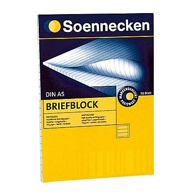 Soennecken Briefblock DIN A5 70g 50Blatt weiß