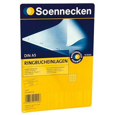 Soennecken Ringbucheinlage  DIN A5 70g  50 Bl./Pack.