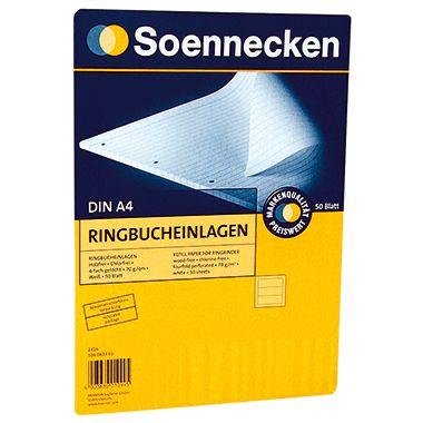 Soennecken Ringbucheinlage  DIN A4 70g  50 Bl./Pack.