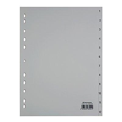 Soennecken Register 1529 DIN A4 1-12 volle Höhe PP grau