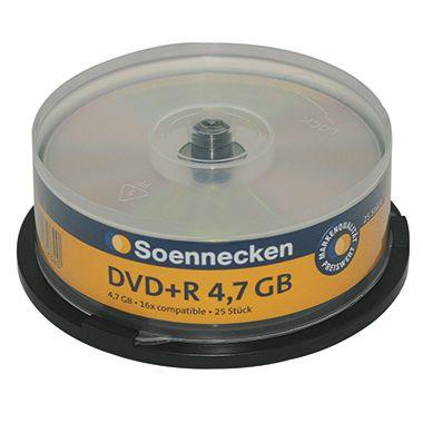 Soennecken DVD+R 70084 16x 4,7GB 120Min. Spindel 25 St./Pack.