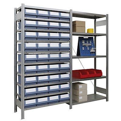 Regalwerk Ordnungsregal | Anbaufeld | Stecksystem | Fachlast 150 kg
