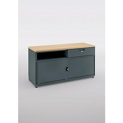 bisley kommode be credenza mit einer schublade schiebet ren und mitteltrennwand hxbxt 531 x. Black Bedroom Furniture Sets. Home Design Ideas