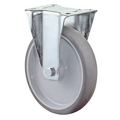 BS Rollen Transportrolle | Lauffläche: thermoplastischer Reifen, grau | Radkörper: Kunststoff | Lager: Rollenlager | Bockrolle