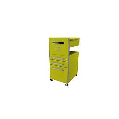 Bisley Assistenzmöbel Bite® - linksseitig öffnend, Whiteboard, 2 Universalschubladen, 1 HR-Schublade | BTBACPLWIIF681