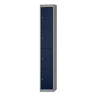 Bisley Schließfachschrank Office - 1 Abteil, 4 Fächer, Tiefe 305 mm