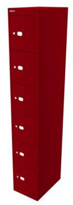 Bisley Schließfachschrank Office - 1 Abteil, 6 Fächer, Tiefe 457 mm