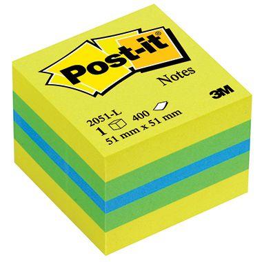 Post-it Haftnotizwürfel Mini 51x40x51mm 400Bl.