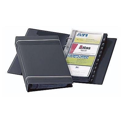 DURABLE Visitenkarten-Ringbuch VISIFIX 238558 max. 200Karten sw