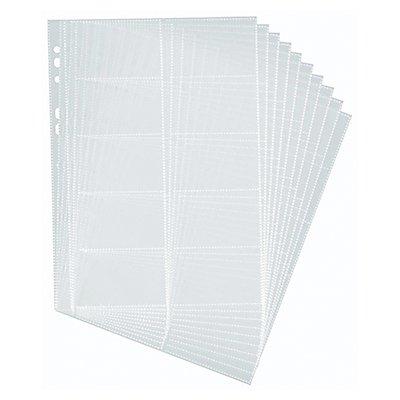 DURABLE Visitenkartenhülle 238919 für 20Karten 90x57mm 10 St./Pack.
